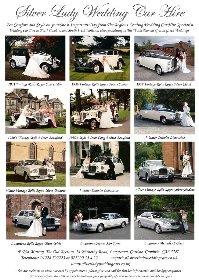 Silver Lady Wedding Car Hire - Flier